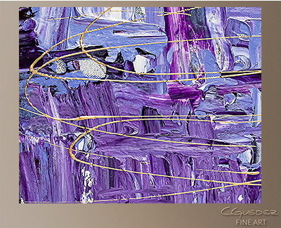 Purple Story Modern Abstract Art Painting -Wall Art Close Up