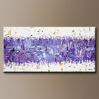 Modern Abstract Art - Purple Story - Canvas Painting