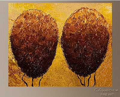 Quintuplets Modern Abstract Art Painting -Wall Art Close Up