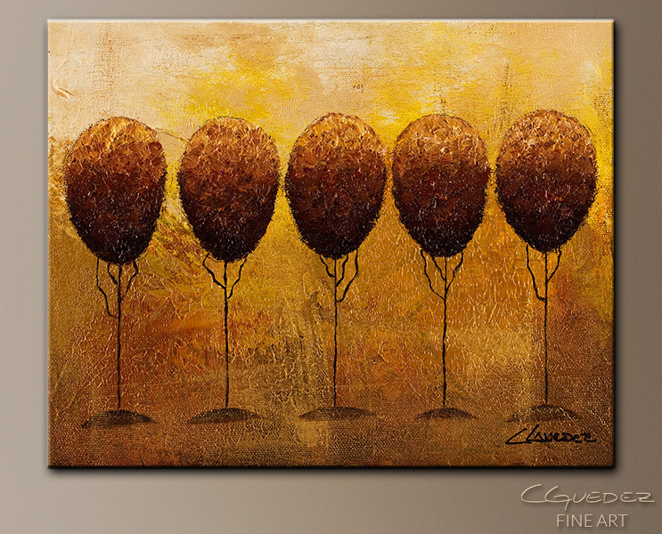 Quintuplets - Abstract Art Painting Image by Carmen Guedez