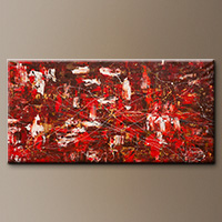 Oversized Wall Art - Red Matter - Canvas Painting
