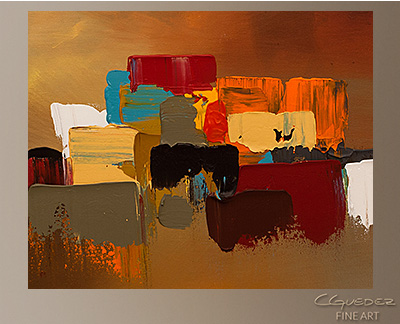 Reflexions Modern Abstract Art Painting -Wall Art Close Up