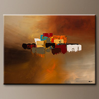 Original Contemporary Abstract Painting - Reflexions - Wall Art