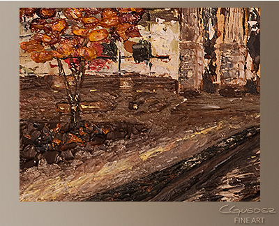 Raleigh Memorial Auditorium Modern Abstract Art Painting -Wall Art Close Up