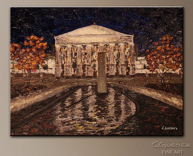 Raleigh Memorial Auditorium - Abstract Art Painting Image by Carmen Guedez