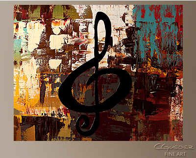 Rock On Modern Abstract Art Painting -Wall Art Close Up