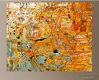 Running Free Modern Abstract Art Painting Wall Art -Wall Art Close Up