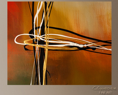 Rush Modern Abstract Art Painting -Wall Art Close Up