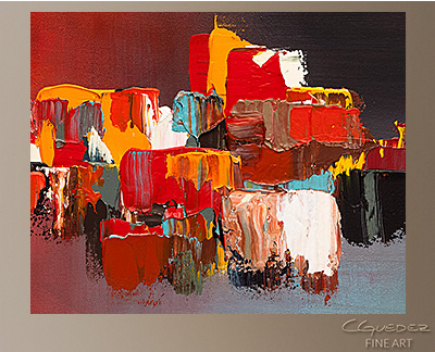 Rush Hour Modern Abstract Art Painting -Wall Art Close Up