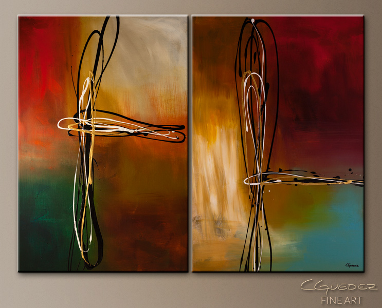 Original Abstract Art Painting - Rush