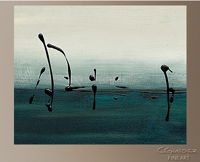 Sailing Modern Abstract Art Painting -Wall Art Close Up
