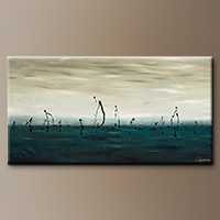 Extra Large Abstract Art - Sailing - Art Gallery