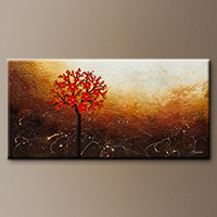 Flower Abstract Painting - Season of Love - Large Abstract