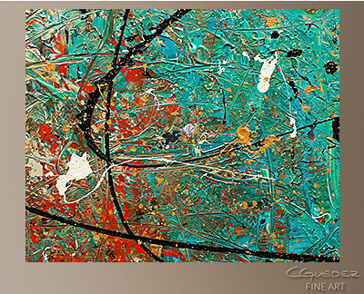 Sight to Behold Modern Abstract Art Painting -Wall Art Close Up