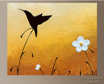Small Treasure Modern Abstract Art Painting -Wall Art Close Up