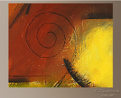 Smooth Sailing Modern Abstract Art Painting -Wall Art Close Up