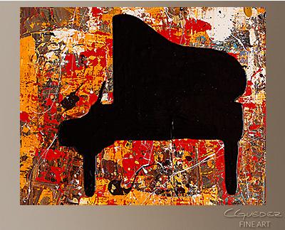 Solemnis Modern Abstract Art Painting -Wall Art Close Up