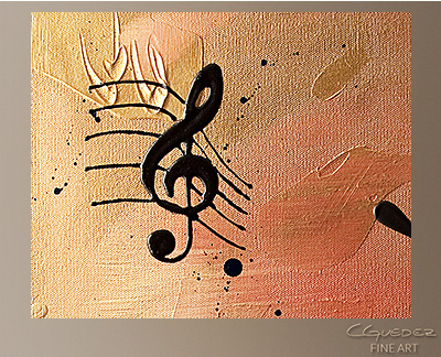 Solo Piano Modern Abstract Art Painting -Wall Art Close Up