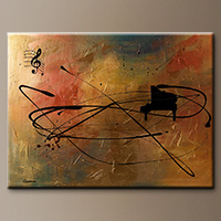 Abstract Art Paintings - Solo Piano - Art Painting