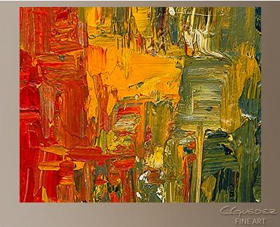 Spectrum Modern Abstract Art Painting -Wall Art Close Up