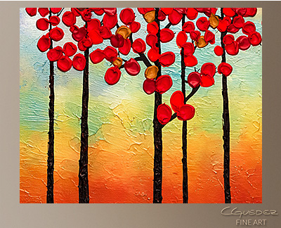 Spring Ahead Modern Abstract Art Painting -Wall Art Close Up