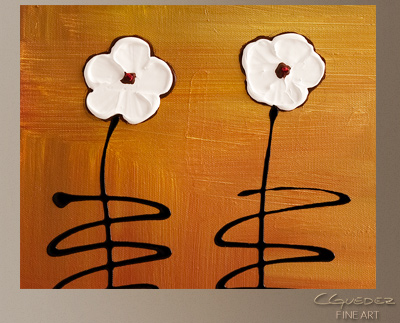 Spring Garden Modern Abstract Art Painting -Wall Art Close Up