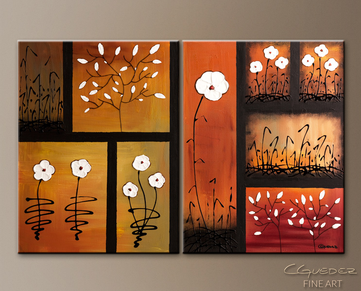 Spring Garden - Abstract Art Painting Image by Carmen Guedez