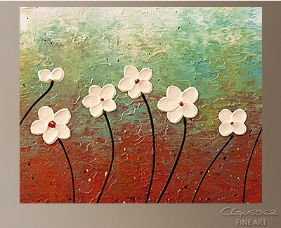 Summer Flowers Modern Abstract Art Painting -Wall Art Close Up