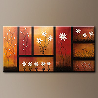 Original Abstract Art Painting - Sunset Garden - Canvas Painting