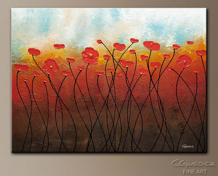Sweet Breeze - Abstract Art Painting Image by Carmen Guedez