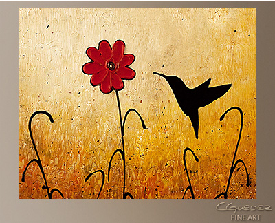 Sweet Inspiration Modern Abstract Art Painting -Wall Art Close Up