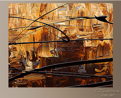 Symphony Modern Abstract Art Painting -Wall Art Close Up