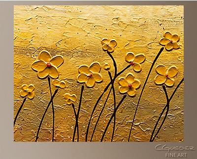 Terre de Fleurs Modern Abstract Art Painting -Wall Art Close Up