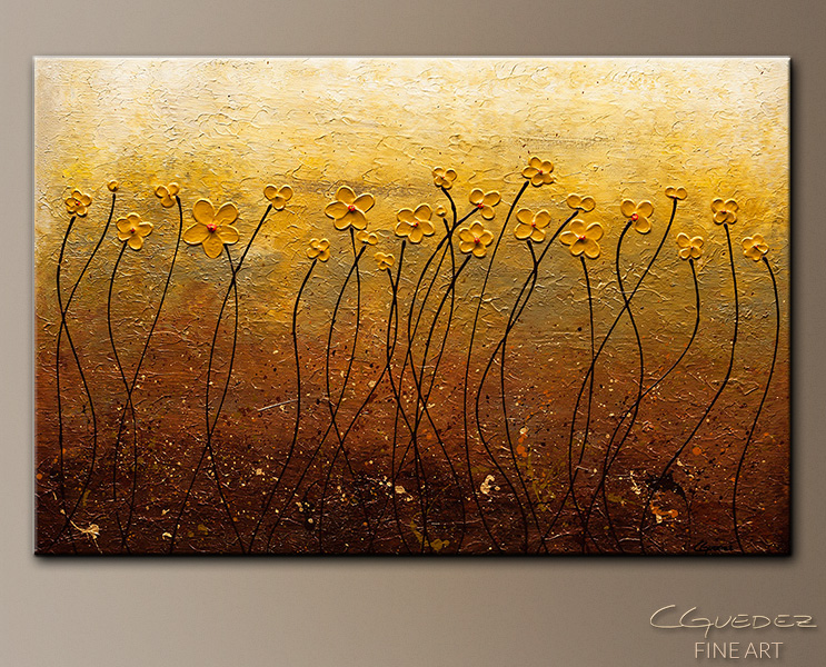 Terre de Fleurs - Abstract Art Painting Image by Carmen Guedez