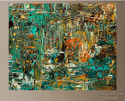 The Abstract Concept Modern Abstract Art Painting -Wall Art Close Up