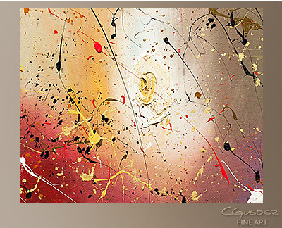 The Fleur Modern Abstract Art Painting -Wall Art Close Up