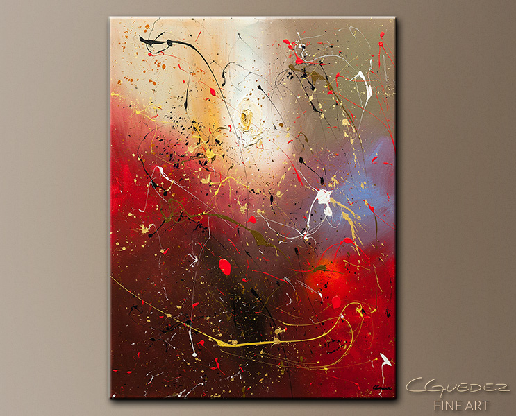 The Fleur - Abstract Art Painting Image by Carmen Guedez