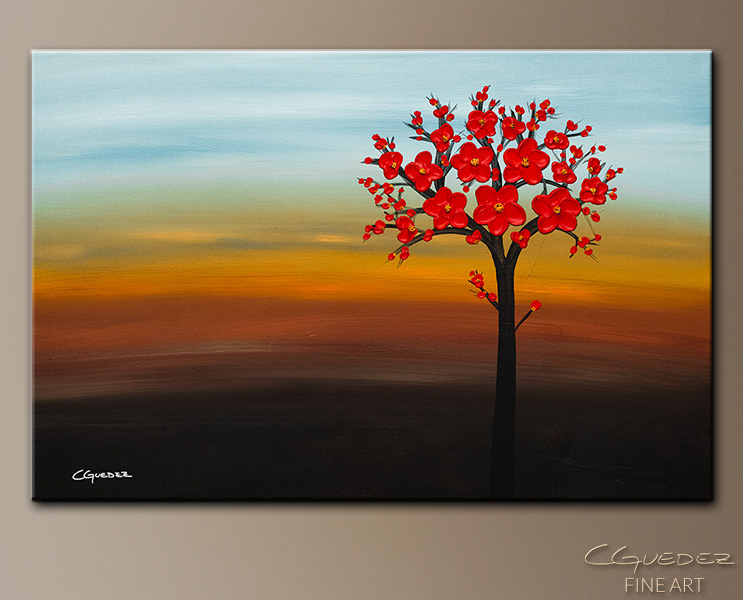 The Golden Hour - Abstract Art Painting Image by Carmen Guedez