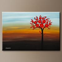 Abstract Wall Art - The Golden Hour - Art Canvas