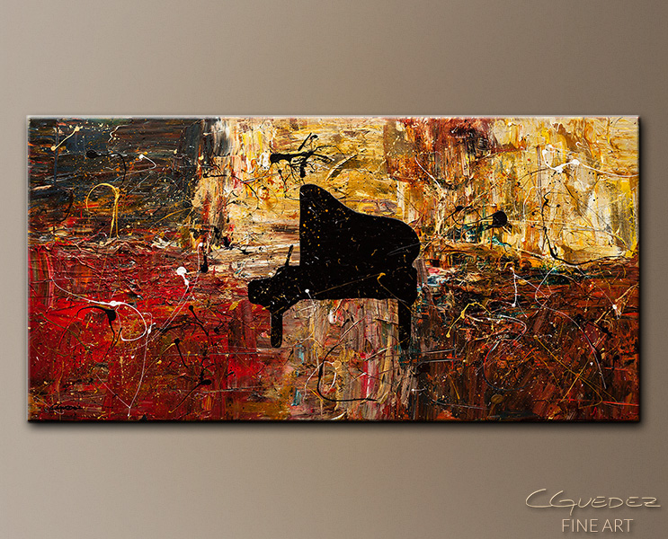 The Grand Finale - Abstract Art Painting Image by Carmen Guedez