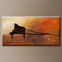 Abstract Art Piano Painting - The Grand - Modern Art
