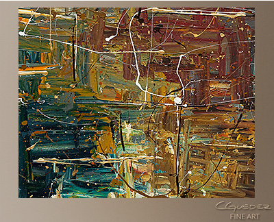 The Middle Way Modern Abstract Art Painting -Wall Art Close Up