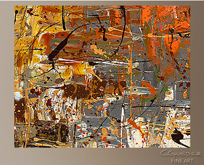 The More The Merrier Modern Abstract Art Painting -Wall Art Close Up