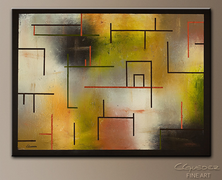 Geometric Paintings-The Time Machine - Modern Abstract Paintings ...