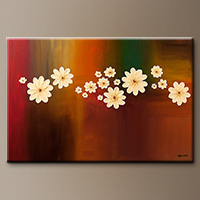 Abstract Art Gallery - The Time of Our Lives-Floral Painting