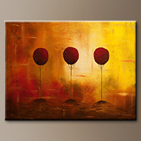 Extra Large Abstract Art Paintings Gallery - Three Alone But Together - Large Abstract