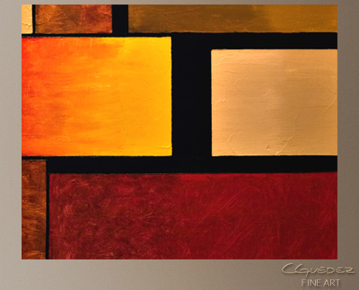 Three's a Crowd Modern Abstract Art Painting -Wall Art Close Up