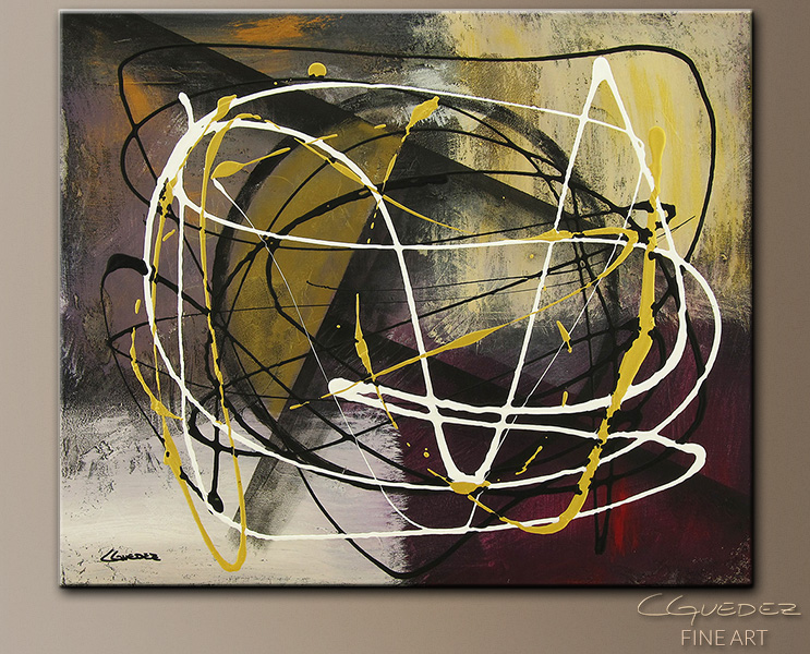 Time and Place - Abstract Art Painting Image by Carmen Guedez