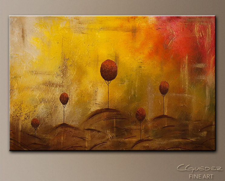 Landscape Painting - Abstract Art by CGUEDEZ