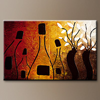 Modern Abstract Art Paintings Gallery - Together in the Heart - Art Canvas